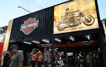 Estande da Harley Davidson